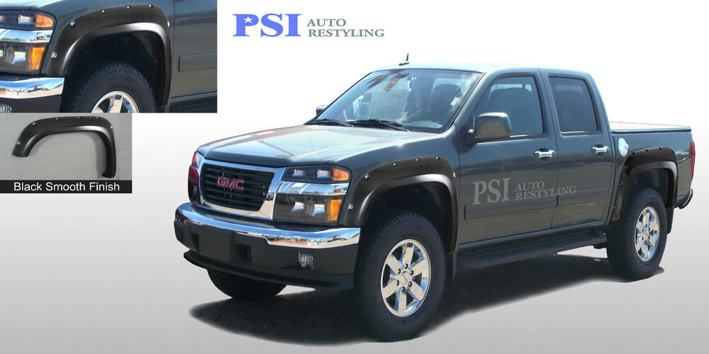 Black Paintable Pocket Fender Flares 2004 2012 Chevrolet