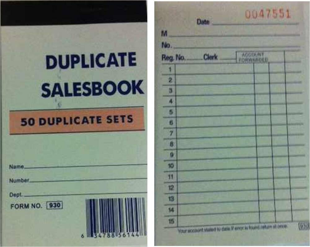 5 small sales order receipt invoice books 250 duplicate