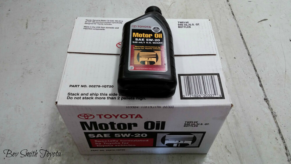 New Oem Toyota 5w20 Genuine Motor Oil Case Of 12 Quarts Ebay
