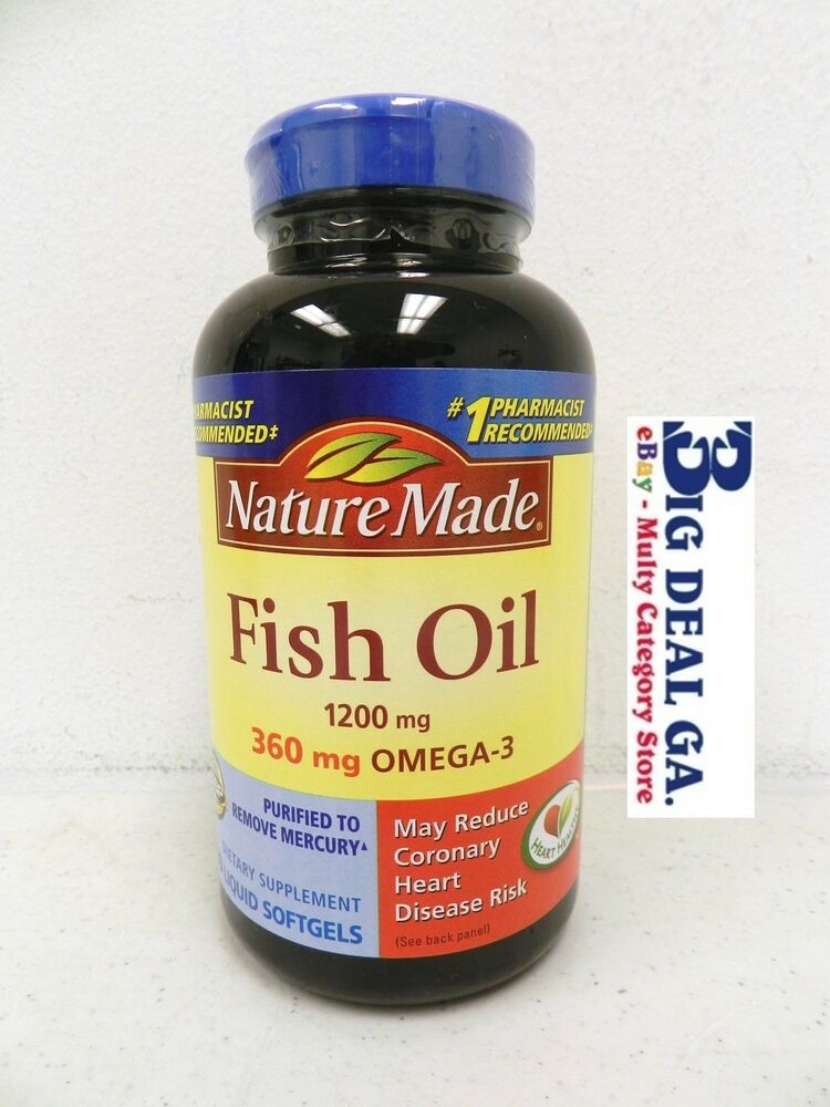 Nature made 200 liquid soft gels 120 360 mg omega 3 fish for What is fish oil pills used for
