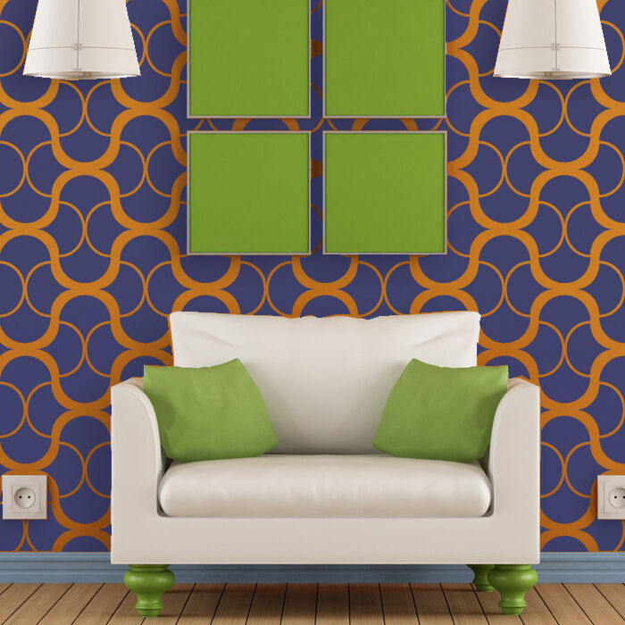 Large Modern Wall Stencil Geometric Pattern For Easy Diy