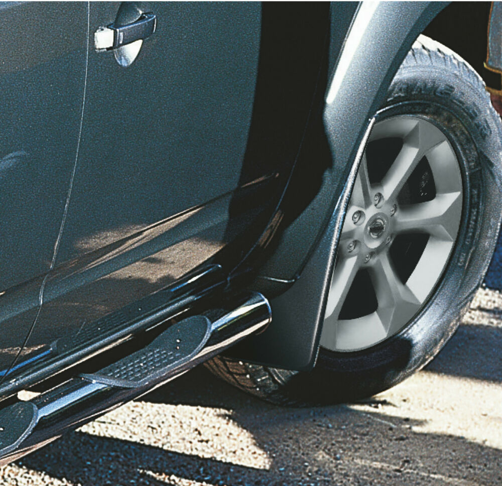 nissan pathfinder genuine mud flaps guards mudguards front. Black Bedroom Furniture Sets. Home Design Ideas