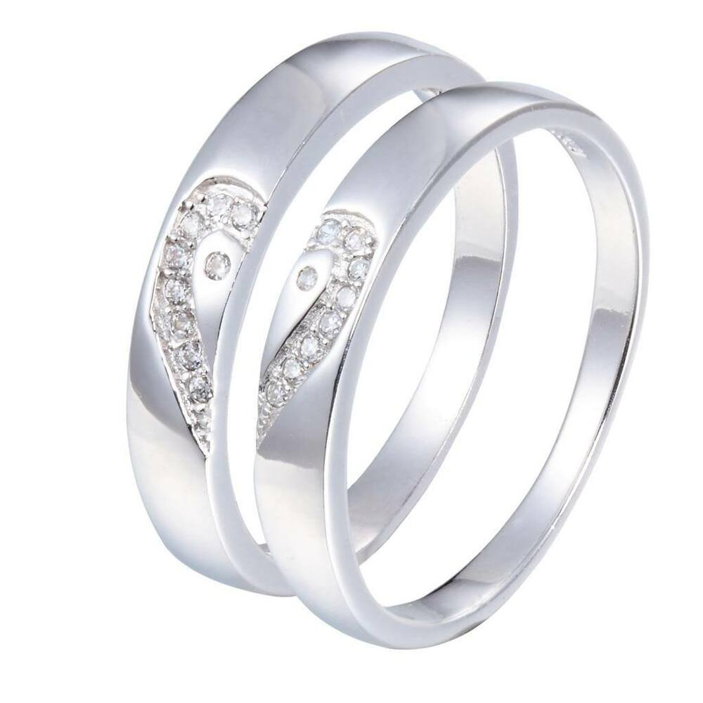 sterling silver 925 cz wedding bands