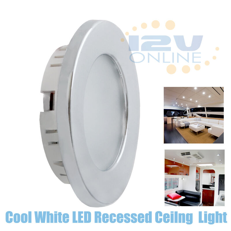 12V 70MM LED Recessed Ceiling Dome Light RV Kitchen Under