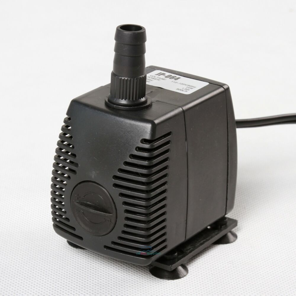 210 gph submersible pump aquarium fish tank powerhead fountain water hydroponic ebay. Black Bedroom Furniture Sets. Home Design Ideas