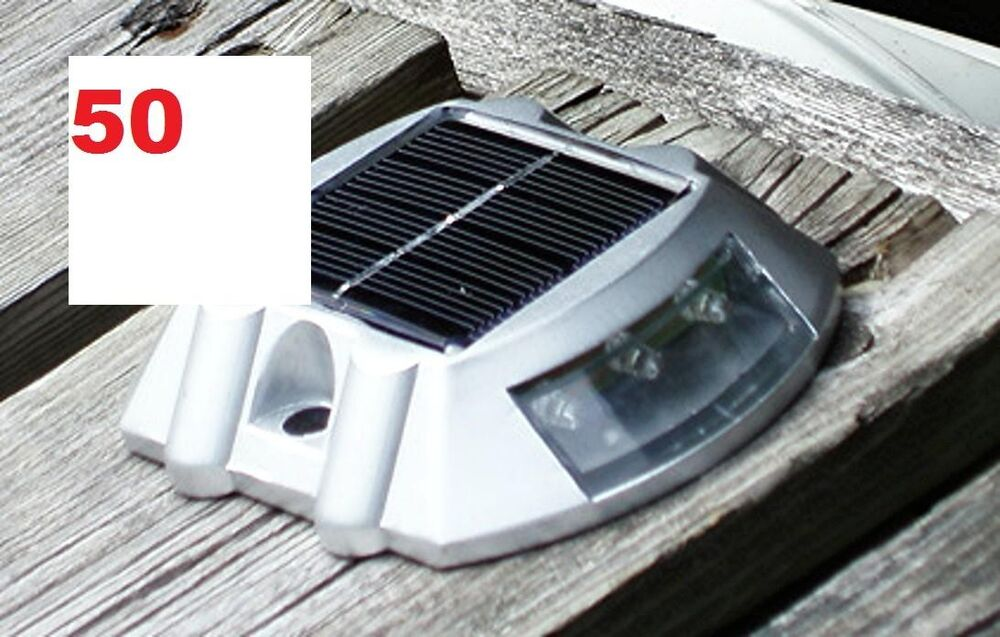 50 pack solar led pathway driveway lights dock path step for How to install driveway lights