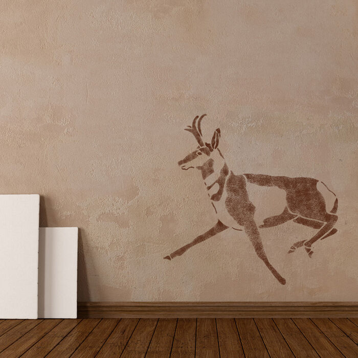 Wall stencils deer stencil large template for diy decor for Wall art templates free