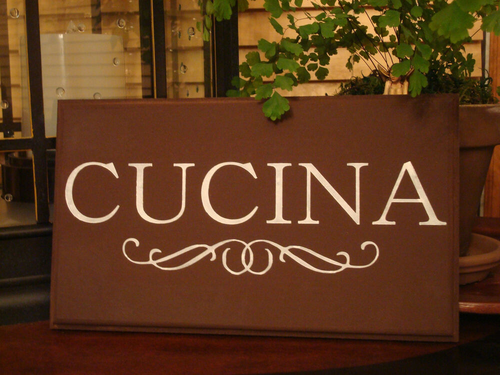 Cucina italian kitchen canvas sign decor cooking chic for I sign decoration