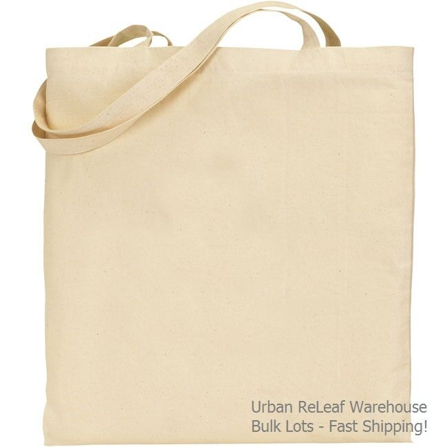 50 natural canvas tote bags blank art craft print cotton for Arts and crafts tote bags