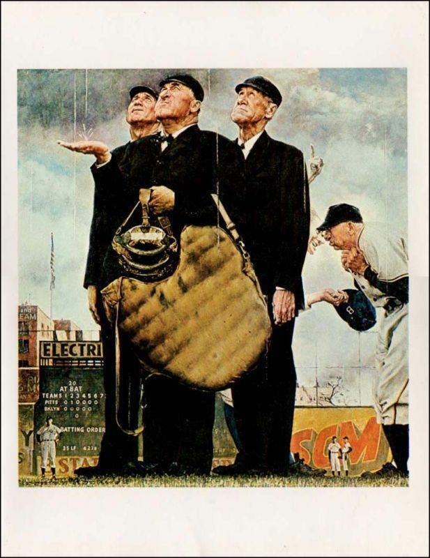 Norman Rockwell Baseball Paintings For Sale