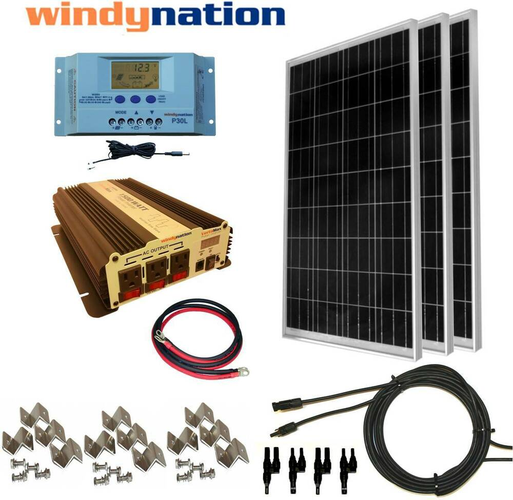 Complete Kit 300 W Watt 300w Solar Panel   1500w Inverter