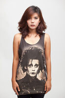 JOHNNY DEPP Edward Scissorhands oo WOMEN TANK TOP T-SHIRT Vest Dress Size S M