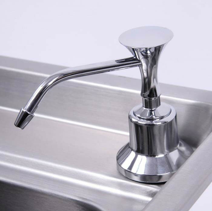 kitchen chrome stainless steel liquid soap dispenser