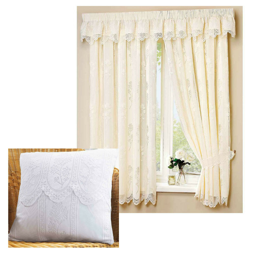 Juniper 3 Quot Tape Top Fully Lined Lace Curtains Cream Or