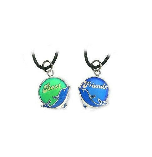 Best Friends 2 Bff Mood Color Changing Dolphin Necklaces
