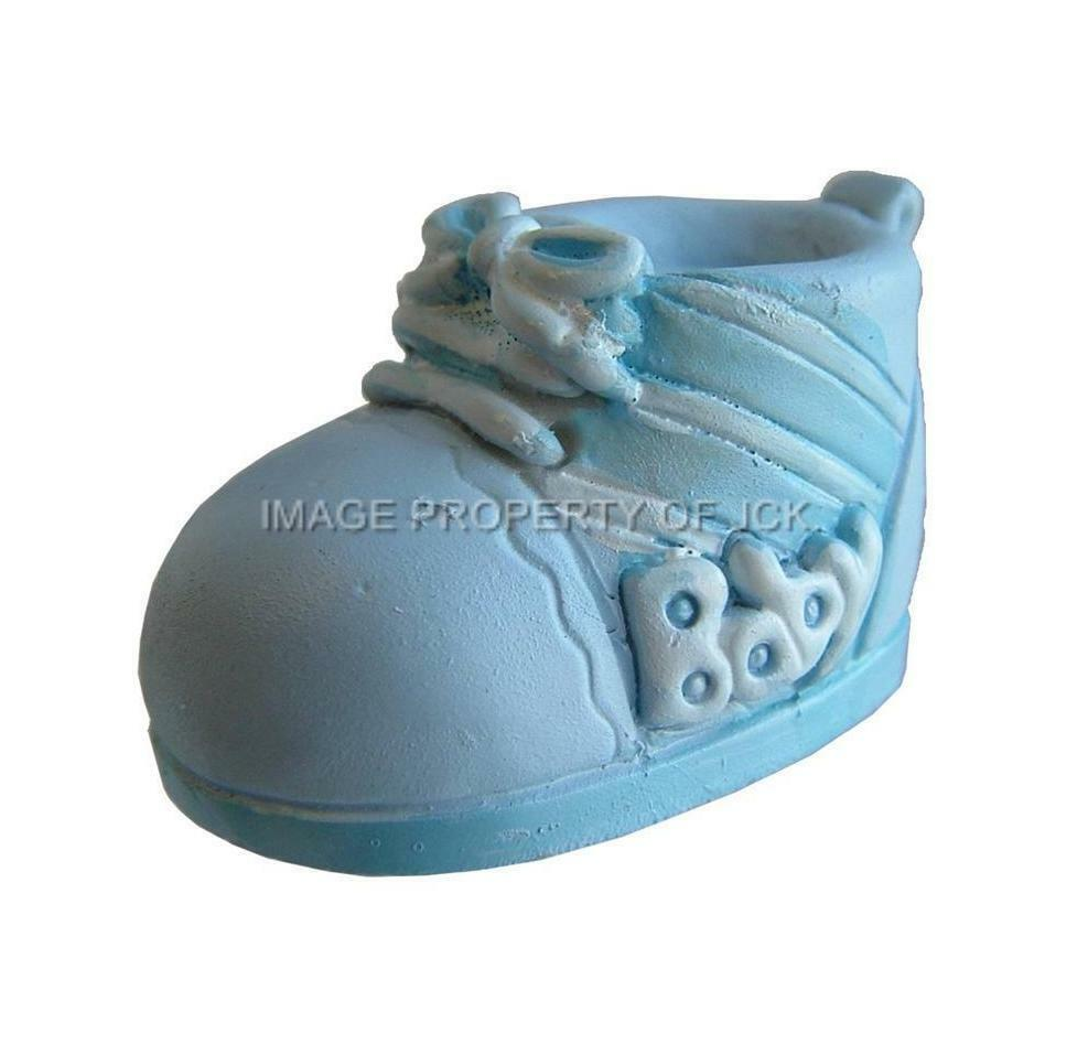 Cake Decorations Uk Baby : BLUE & WHITE BABY BOYS BOOTIE CHRISTENING NEW BABY SHOWER ...