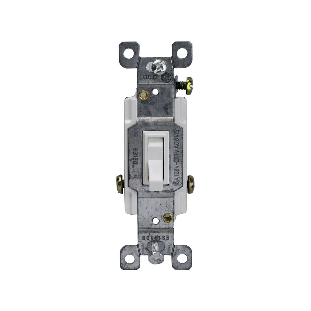15 amp 3 way single pole spdt amber light illuminated toggle switch white ebay. Black Bedroom Furniture Sets. Home Design Ideas