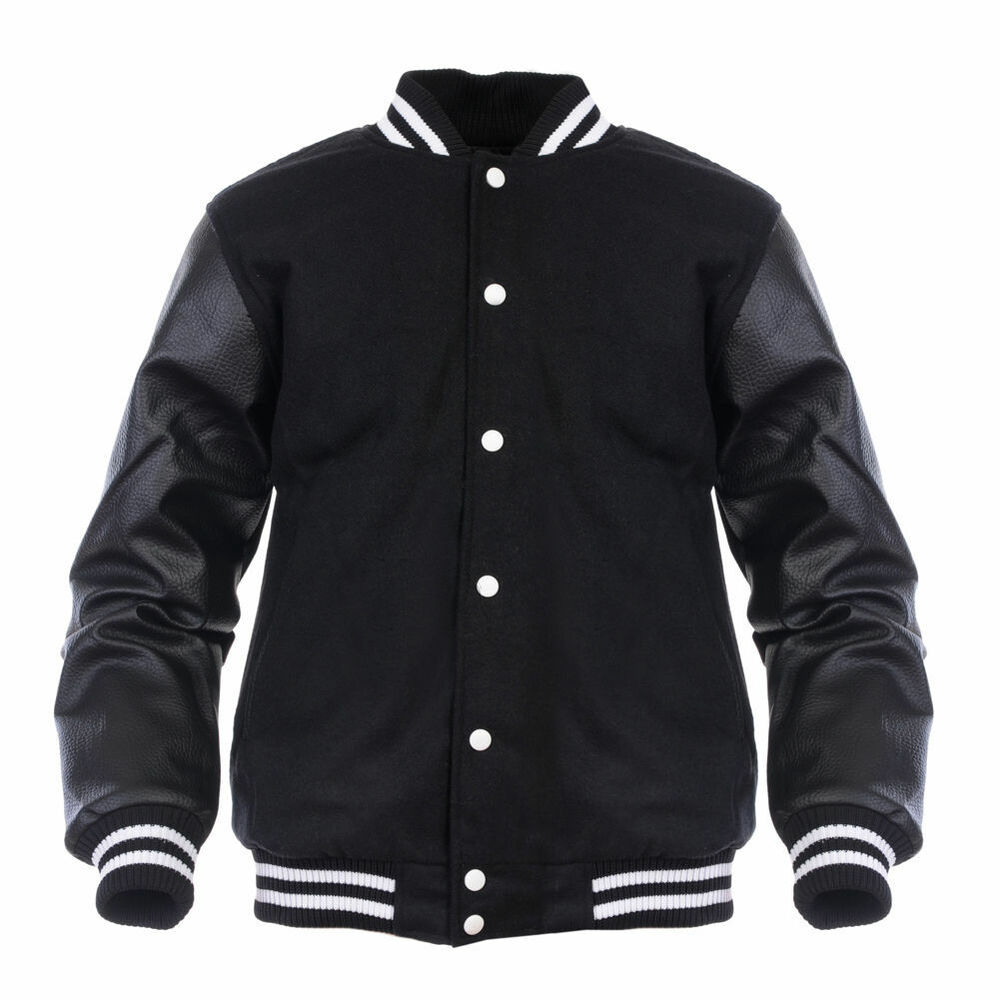 Double up your style quotient this season with this custom varsity jacket with genuine leather sleeves. Complete with a genuine body made of the finest quality of Melton wool and quilted inner lining inside, this varsity jacket with leather sleeves is the thing to own for your class graduation group.
