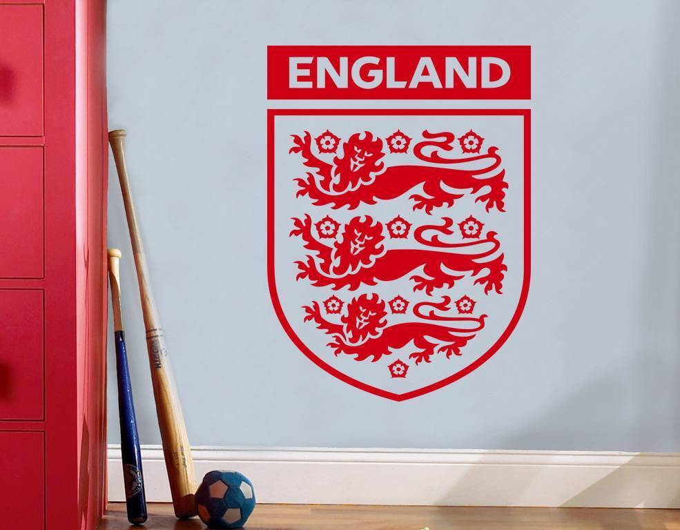 england badge football decal wall sticker art home decor. Black Bedroom Furniture Sets. Home Design Ideas