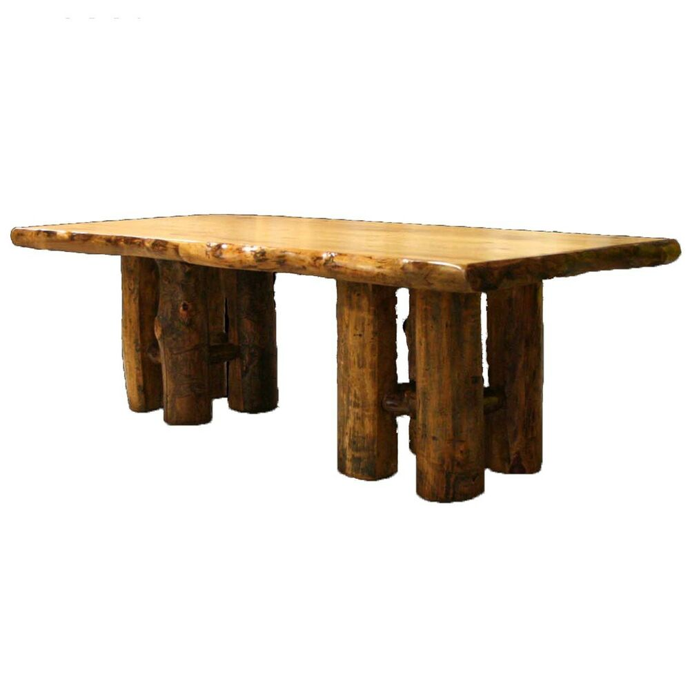 Log stump table country western rustic cabin wood for Table western