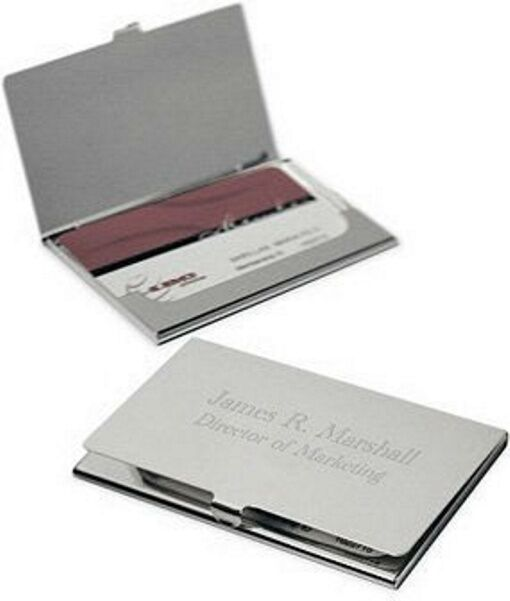 Personalized Plain Metal Business Card Holder Free