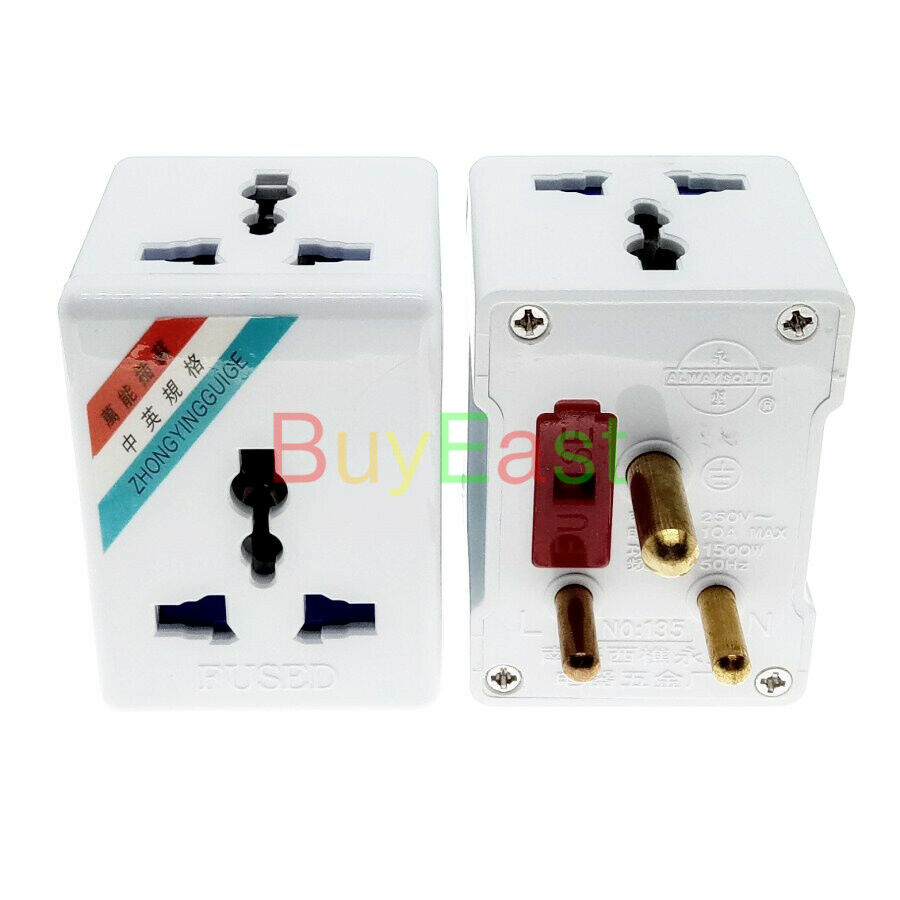 3 WAY Outlet India Type D Wall Socket Power Plug Adapter AC ...