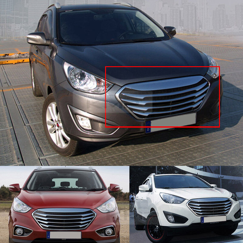 chrome silver front hood radiator grille grill for hyundai. Black Bedroom Furniture Sets. Home Design Ideas