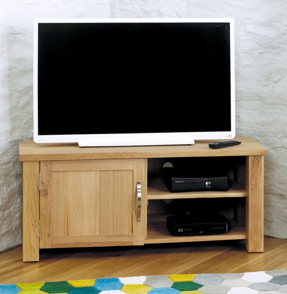 Salisbury Oak Home Furniture Corner Television Cabinet Stand Unit Ebay