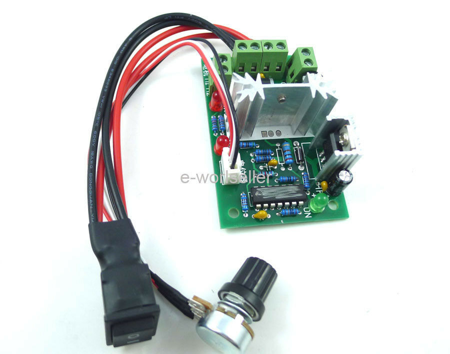 Pwm dc electronic motor speed controller 6a 10v 30v for Small dc motor speed control