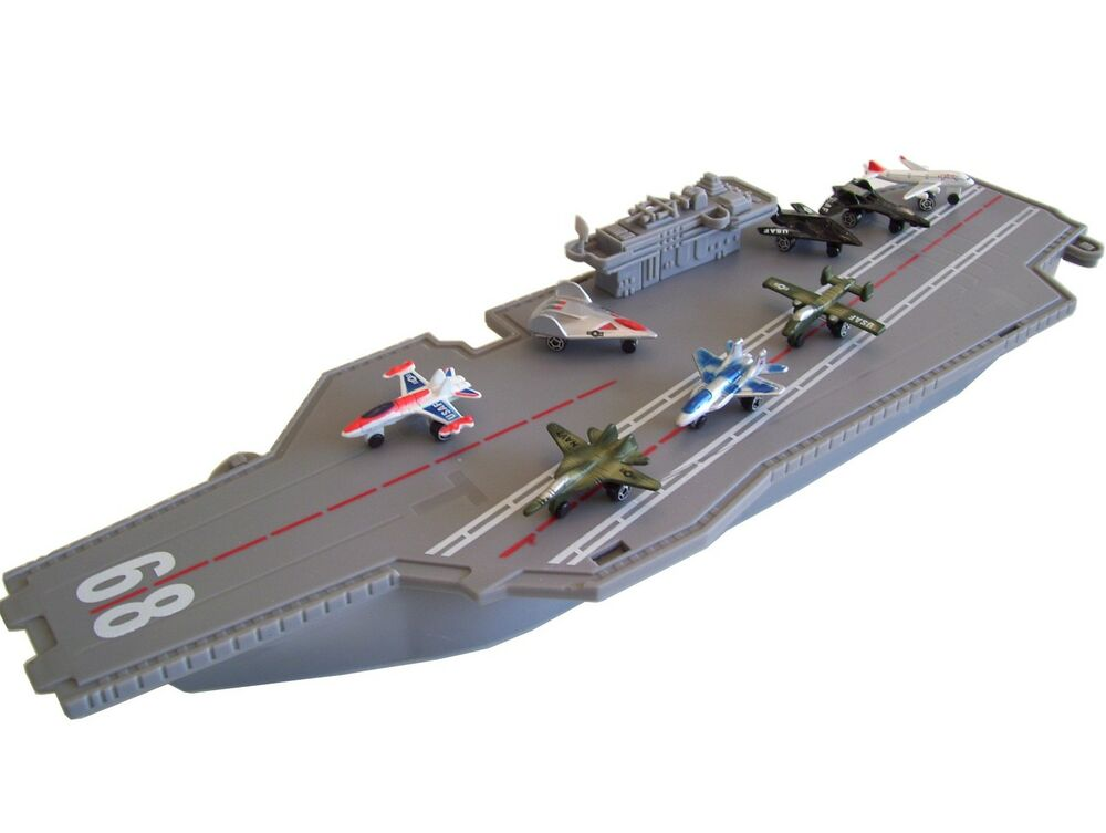 USS Navy Aircraft Carrier Ship/Boat/Vessel Diecast Jet ...