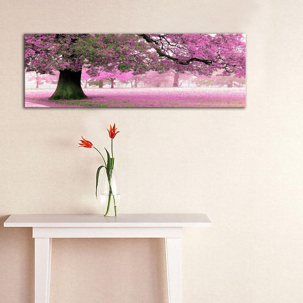 Wall Art Canvas Ready To Hang : Cherry blosoom ready to hang panel mounted wall art