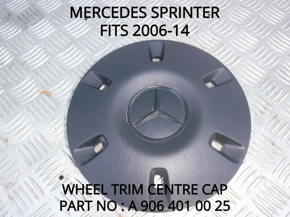 Mercedes sprinter 906 wheel trim centre cap fits vans for Mercedes benz sprinter wheel covers
