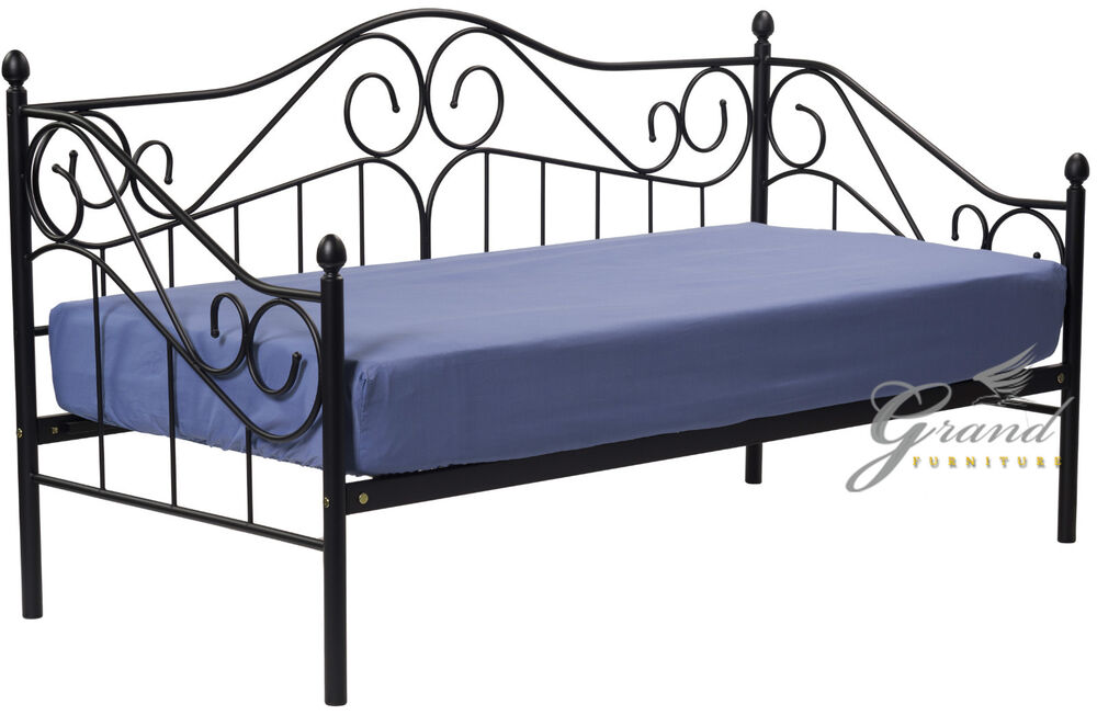 Victorian Style Metal Bed Frames : Exclusive joseph victorian style ft single black metal