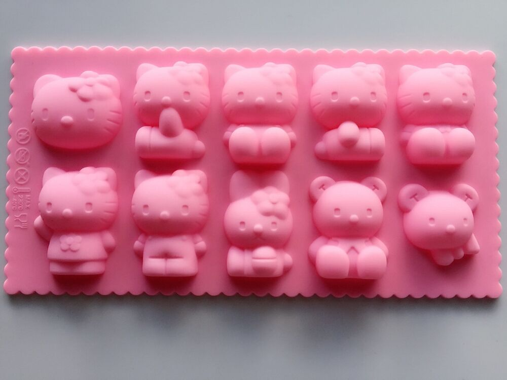Hello Kitty Bunny Chocolate Cake Ice Cube Cookie Silicone
