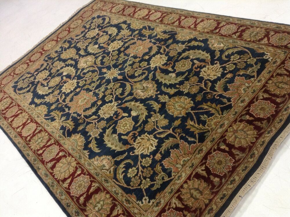 6 X 9 Mahal Persian Oriental Area Rug Blue Red Green Hand