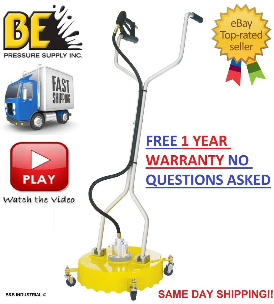 Be pressure whirl a way 18 39 39 flat surface cleaner washer for Concrete pressure washer