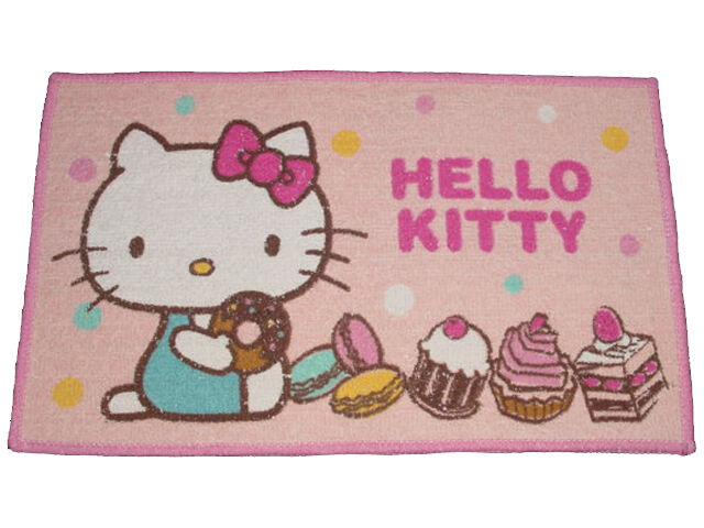 nwt sanrio hello kitty mini bath bathroom door floor mat carpet rug gifts ebay. Black Bedroom Furniture Sets. Home Design Ideas