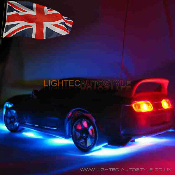 under car glow neon lights 7 colours 180 led strip kit wireless remote control ebay. Black Bedroom Furniture Sets. Home Design Ideas