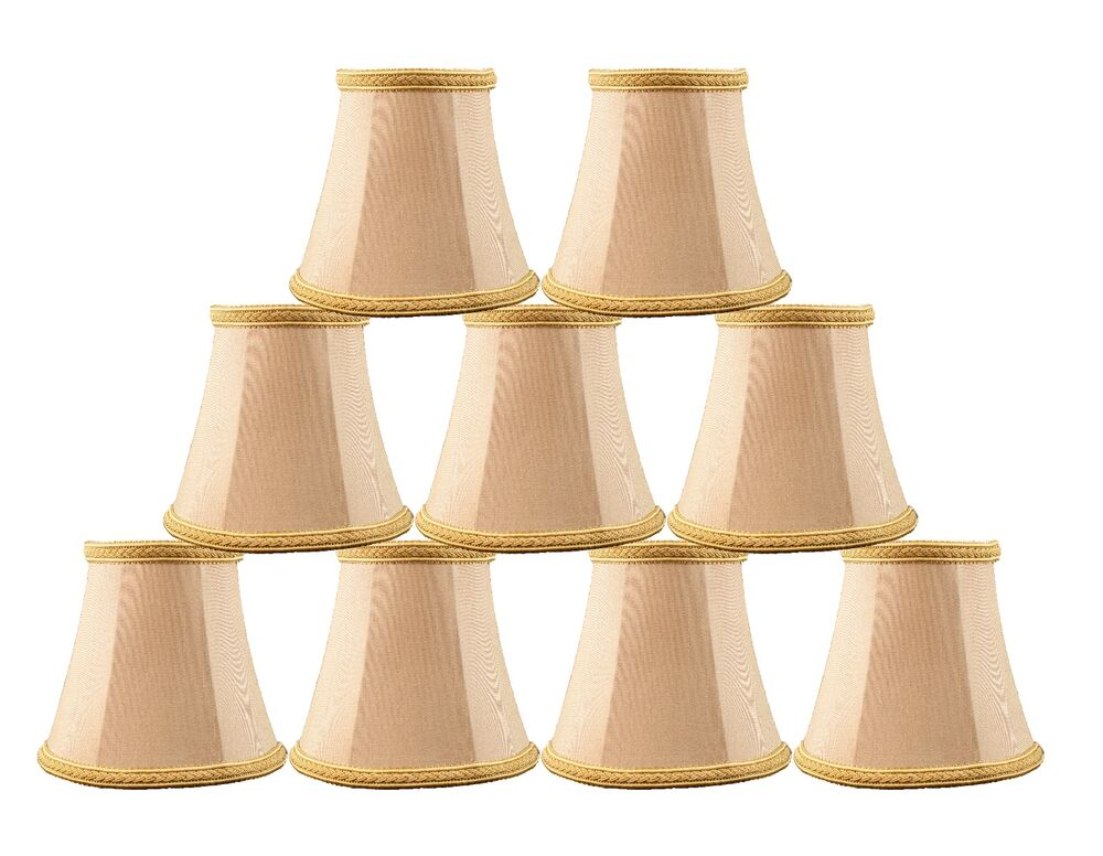 Urbanest Chandelier Mini Lamp Shades 5 Bell Silk Taupe W