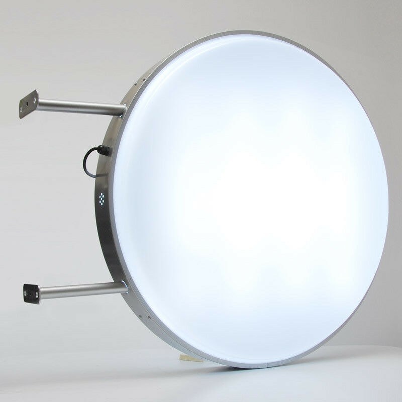 Led 80cm Round Double Sided Outdoor Projecting Light Box