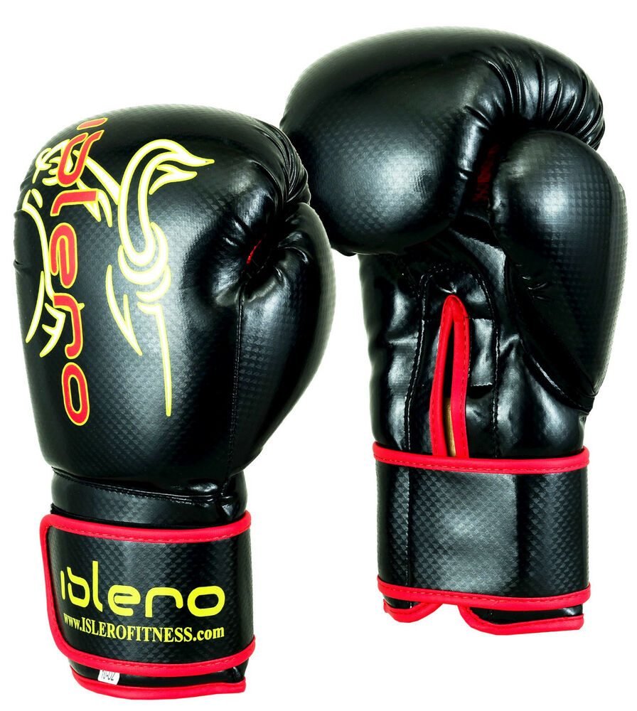 Boking Gloves: EVO MAYA Leather Boxing Gloves MMA Punch Bag Sparring Kick