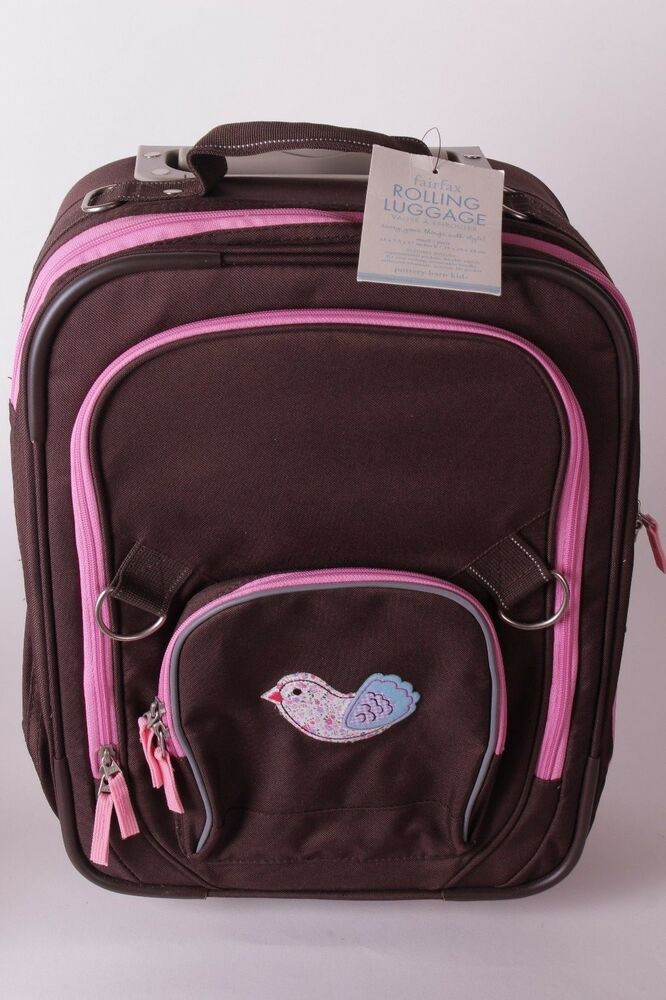 Pottery Barn Kids Fairfax Small Rolling Luggage Suitcase