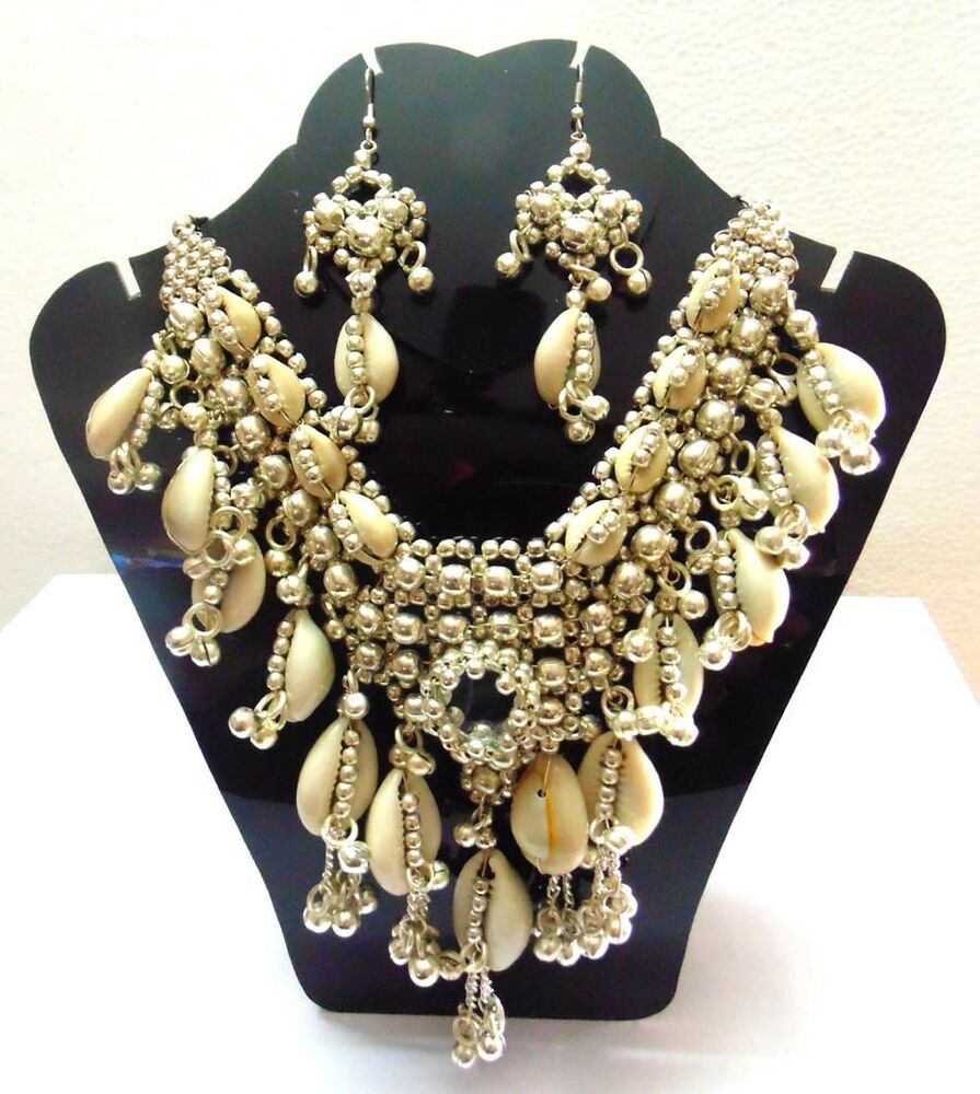 NEW KUCHI TRIBAL COWRIES NECKLACE BELLY DANCE VINTAGE ...