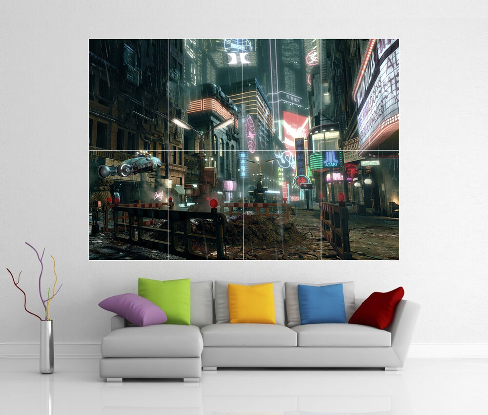 blade runner giant wall art picture print poster g49 ebay. Black Bedroom Furniture Sets. Home Design Ideas