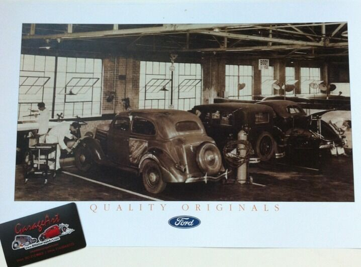 1930 39 s ford service bays reprint 11x17 photo garage decor for Garage ford paris 11