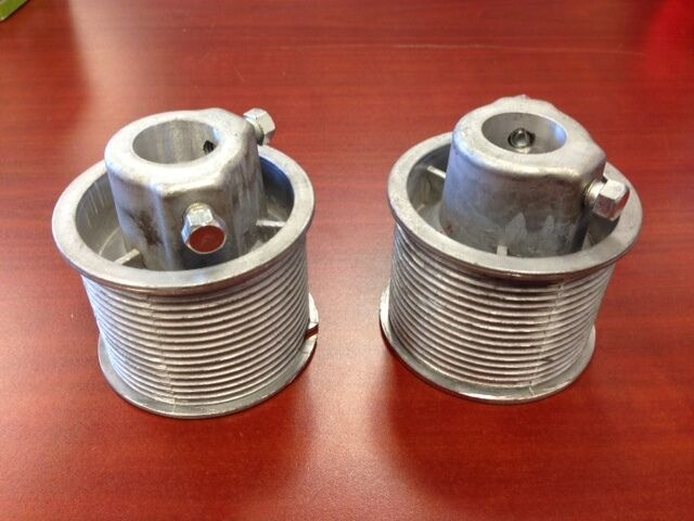 Pair of todco truck door cable drums roll up overhead