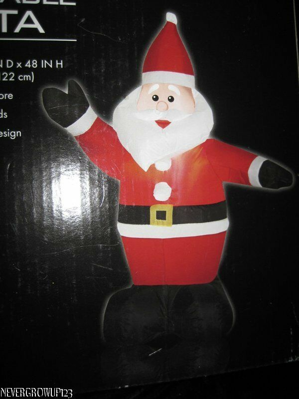 Waving holiday santa lighted inflatable ft outdoor yard