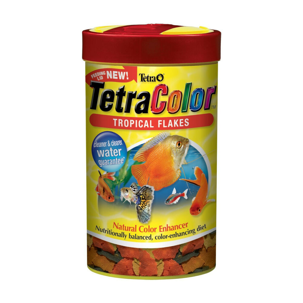 tetra color natural tropical fish flakes fish food