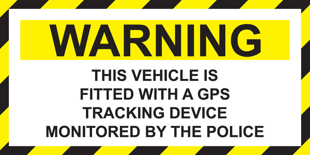 Vehicle Tracker Uk >> [ 140 x 70mm ] WARNING - VEHICLE FITTED WITH GPS TRACKING DEVICE POLICE STICKER | eBay