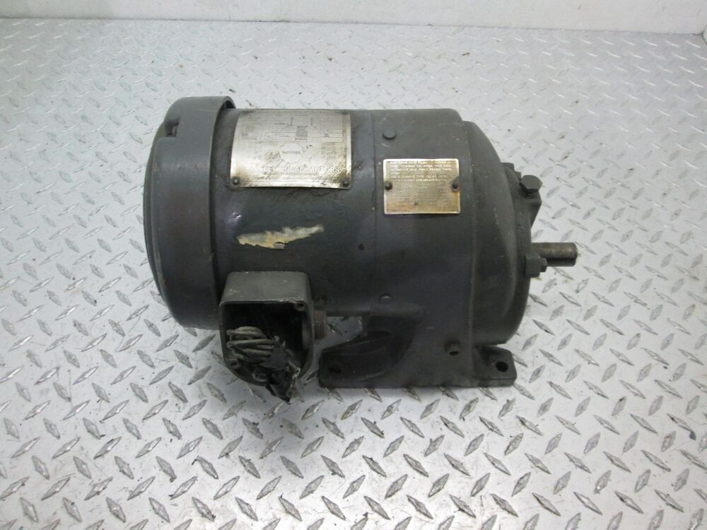 Us Electric Syncrogear Motor 3 4 Hp 56 5 Frame 230v 460v